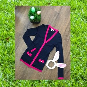 Adorb EUC navy pink 🎀 Lilly Pulitzer sweater Xs